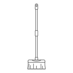 Brush mop icon. Outline illustration of brush mop vector icon for web design isolated on white background