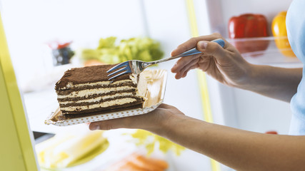 Woman having a delicious dessert