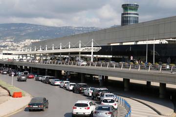 A general view shows Beirut international airport