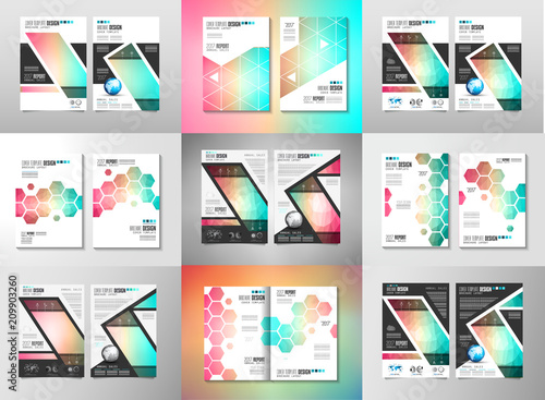 Set Of Brochure Templates Flyers Design Or Depliant Covers For