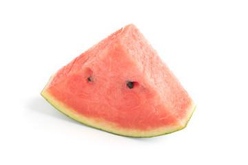 Sliced ripe watermelon on white background