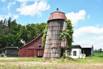 Leaning Silo