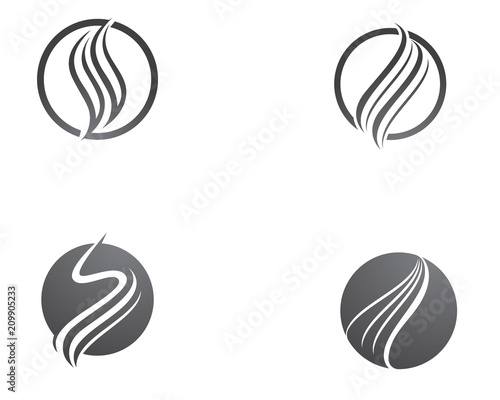 hair vector icon and logo template fotolia com の ストック画像と
