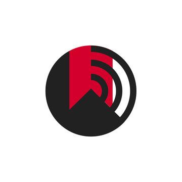 Audio books logo icon vector symbol isolated
