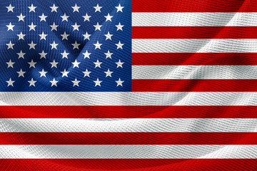 Shiny American Flag Cloth Background Texture