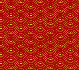 Vector Seamless Pattern, Oriental Ornament, Asian Background.