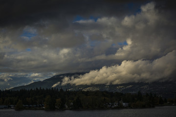 Cloudy day looking at North Vancouver