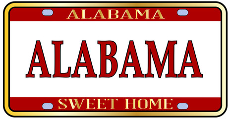 Alabama State Name License Plate