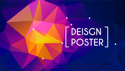 Colorful background with triangles for poster design