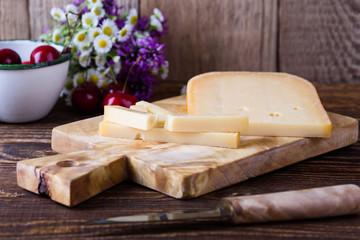 Traditional Dutch semi hard cheese