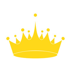 golden royalty crown icon image, stock vector illustration