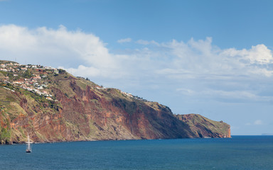 Funchal Headland.  A view of the headland to the east of Funchal, the capital city of the Portuguese island of Madeira.