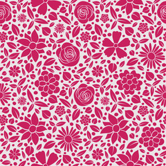 Seamless floral pattern - wrapping paper. Mother's Day, Woman's Day and Valentine's Day. Vector..