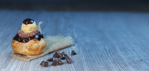 religieuse au chocolat, pâtisserie