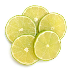 Abstract background with citrus-fruit of lemon slices. Close-up. Studio photography.