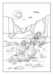 Satan tempts Jesus transform stones into bread