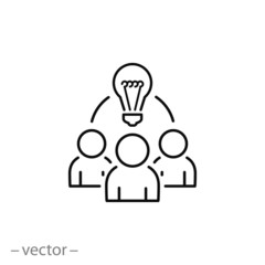 Collaboration idea icon vector