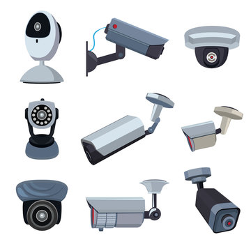 Security cameras. Cctv systems
