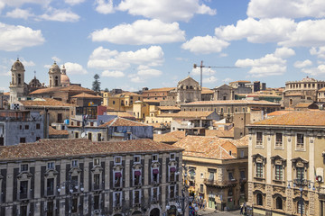 Catania old town and Piazza Duomo, Sicily, Italy