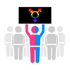 LGBT demonstration flat vector icon.