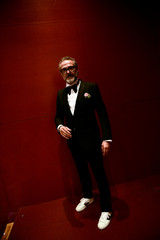Massimo Bottura, the chef patron of Osteria Francescana restaurant in Italy, poses after receiving the award for Best Restaurant during the World's 50 Best Restaurants Awards at the Palacio Euskalduna in Bilbao