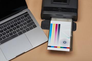 Printer print color test