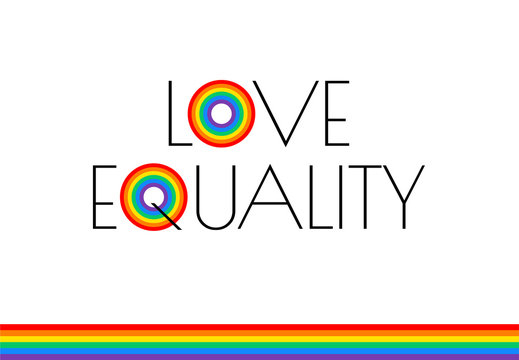 Pride month love and equality rainbow flag illustration - vector graphic for pride festival, march, event celebration
