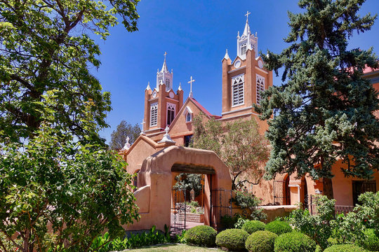 The church of the old town of Albuquerque NM.