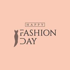 Happy Fashion Day Vector Template Design Illustration