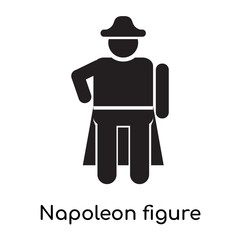 Napoleon figure icon vector sign and symbol isolated on white background, Napoleon figure logo concept