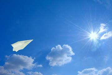 Flying paper plane