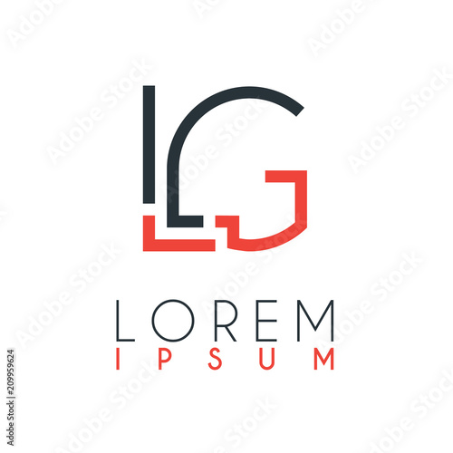 The logo between the letter L and letter G or LG with a