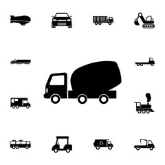 concrete mixer truck icon. Detailed set of  Transport icons. Premium quality graphic design sign. One of the collection icons for websites, web design, mobile app