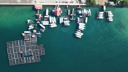 Fish farm (aquaculture) in Malaysia