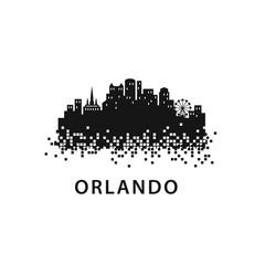 Orlando City Skyline Landscape Logo Template