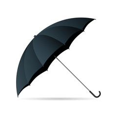 Vector drawn umbrella, Isolated over white background.