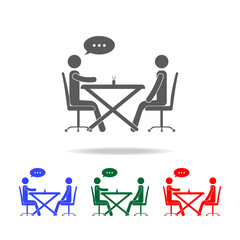 business communication at the table icon. Elements of conversation in multi colored icons. Premium quality graphic design icon. Simple icon for websites and web design