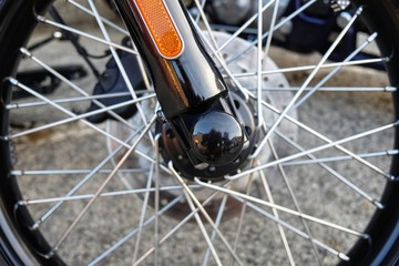 wheel with motorcycle spokes