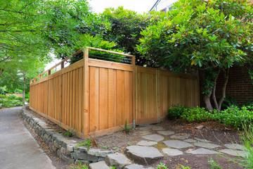 New Cedar Wood Fencing on Side Yard