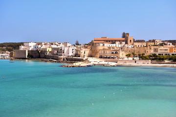 View of the beautiful coast Otranto, Italy