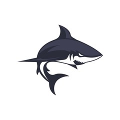 shark icon vector template