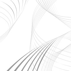 curvy abstract line wave graphic gray background
