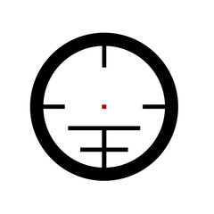 target icon, crosshair sign sniper stylish vector sniper symbol of aiming, sight design, bullseye