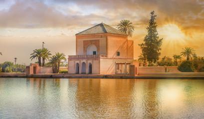 Menara Pavilion and Gardens of  Marrakesh, Morocco.