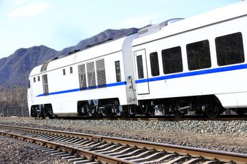 The train running,