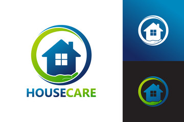 House Care Logo Template Design Vector, Emblem, Design Concept, Creative Symbol, Icon