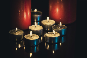 複数の蝋燭
