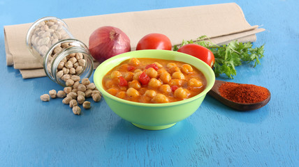Chana dal masala or chickpea curry, with its ingredients, is a healthy, vegetarian, nutritious and delicious Indian side dish, for items like chapati and roti.