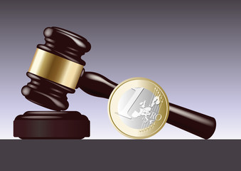 justice - euro - euro symbolique - condamnation - tribunal - maillet - juge - jugement - conflit