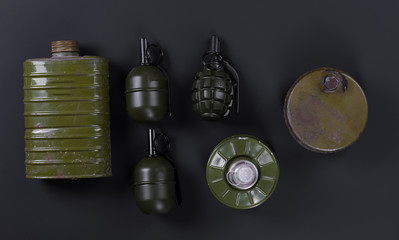 military grenades, mines and explosives